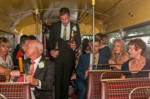Champagne-on-bus