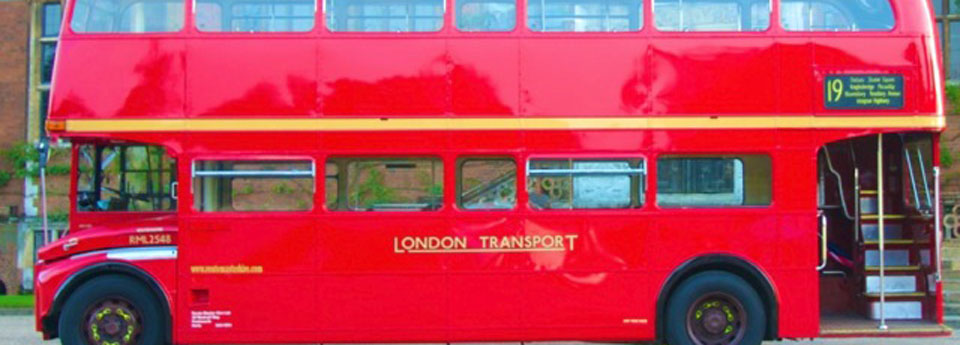 Routemaster Bus 1058 banner