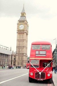 Wedding Bus & Big Ben