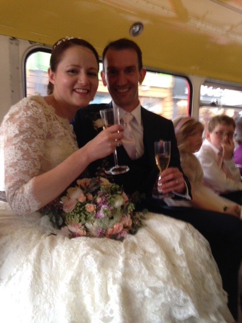 Katherine and David 28 March. Islington town hall to Canary Wharf via London Bridge
