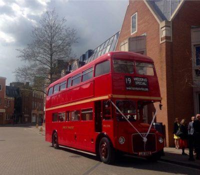 Rainbow Wedding Bus Hire Routemasterhire