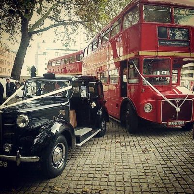 Laura & Charles' Wedding Bus Hire Routemaster-Hire
