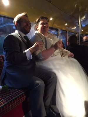 Manny & Briony Wedding Bus Hire Routemaster-Hire