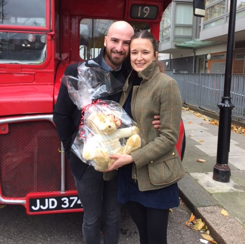 Tommy and Jenna's Proposal Routemaster-Hire